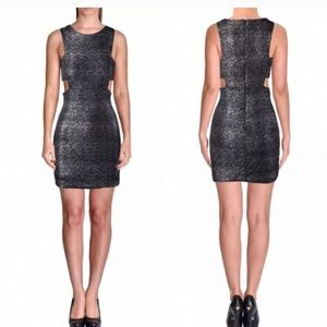 NWOT Aqua Silver Sparkle Cutout Dress